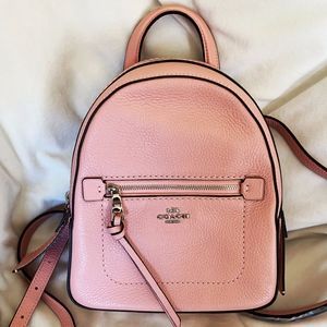 Coach Leather Andi Petal/Silver Backpack